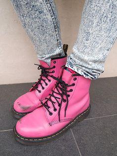 Pink Doc Martens <3