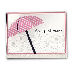 Baby Shower Diecut Umbrella Card