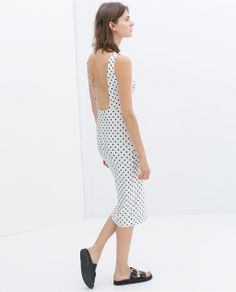 Image 2 of DRESS WITH LOW-CUT BACK from Zara