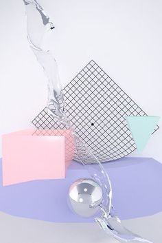 art direction | abstract shapes + grid pattern