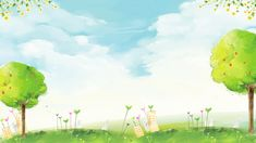 Beautiful And Spring Background – Tatiana – Join in the world of pin Grass Background, Kids Background, Light Blue Background, Paint Background, Background Patterns, Watercolor Flower Background, Floral Watercolor, Flower Backgrounds, Wallpaper Backgrounds