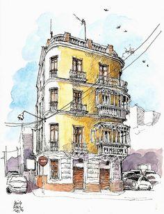 Málaga, pensión La Mundial by Luis Ruiz Padrón