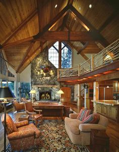 MY DREAM HOME. #cabin #vaultedceilings