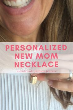 Personalized New Mom Necklace Tiny Tags, Every Mom Needs, Mini Dogs, Diy Mothers Day Gifts, Mother's Day Diy, Trendy Jewelry, Kid Names, Mom Style, New Moms