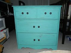 Dresser done in Caribbean Blue Fat Paint