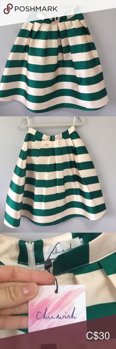 Chicwish party skirt NWT pleated midi length jade and cream skirt. Perfect for the holidays. The sturdy material ensures the skirt remains full (as if wearing a crinoline underneath). Be the belle of the ball in this beauty! Chicwish Skirts A-Line or Full Chicwish Skirt, Cream Skirt, Party Skirt, Green Cream, Plus Fashion, Fashion Tips, Fashion Trends, Jade, Boss
