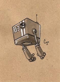 Robot a Day 03 by Character Concept, Character Art, Robot Sketch, Robots Drawing, Robot Cartoon, Arte Robot, Robot Illustration, Robots Characters, Cyberpunk Character