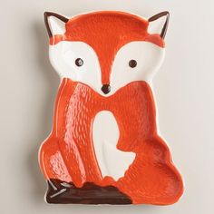 "Shaped like an adorable red fox, this woodland critter spoon rest brightens your kitchen counter and protects it from messy utensils. Details: - Crafted of ceramic with painted finish - 5""W x 6.5""L x"