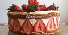 Aprenda uma DELICIOSA receita de Torta de Morango com Leite em Pó, você vai amar.              Ingredientes      Massa de pão de ló com...