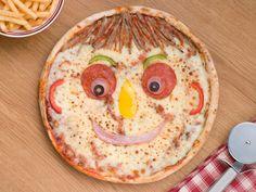 Pizza sonriente... ¡Cenas divertidas! - Recetín