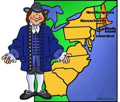 New England Colonies - Colonial America FREE Lesson Plans & Games for Kids