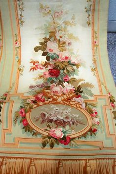 Pair of Aubusson Entre Fenetres tapestries  France image 4