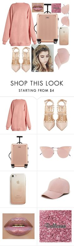 """""""Pink"""" by bravoaistil ❤ liked on Polyvore featuring Acne Studios, Valentino, Rimowa, So.Ya, Rebecca Minkoff and Sole Society"""