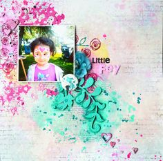 Making Scrap Up: Little Fey - UWS Altered chipboard, acrylic paint, watercolor paint