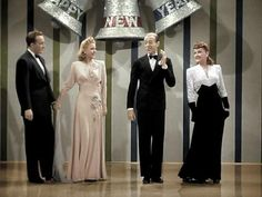 """Bing Crosby, Marjorie Reynolds, Fred Astaire, and Virginia Dale in the colorized version of """"Holiday Inn. Old Hollywood Style, Old Hollywood Glamour, Classic Hollywood, Old Movies, Vintage Movies, Old Christmas Movies, Fred And Ginger, Old Movie Stars, Fred Astaire"""