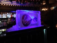 Corporate ice sculptures for your companies themed event, ideal for promotions, product launches and of course your Christmas party. #icesculpture #eventplanning #virginmedia #londonice #vodkaluge