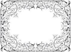 Antique Fancy Leaves Frame! - The Graphics Fairy