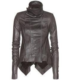 ¡Cómpralo ya!. Naska Leather Jacket. Grey Naska Leather Jacket By Rick Owens , chaquetadecuero, polipiel, biker, ante, anteflecos, pielflecos, polipielflecos, antelina, chupa, decuero, leather, suede, suedette, fauxleather, tassel. Chaqueta de cuero  de mujer color gris de RICK OWENS.