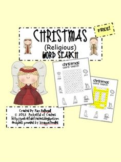 Religious Christmas Word Search {FREE}