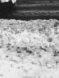 Despite the snow only fallin the day prior to the day this photo was taken, there is already a build up of this slushy, gasoline, snow mixture on main roads. Slushies, Roads, Snow, Day, Photography, Outdoor, Fotografia, Outdoors, Fotografie