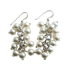These fabulous dangle earrings Bunches are composed with White Pearls 8mm Beads with Sterling Silver Hook very classy & gorgeous piece. These HOT En-Vogue Earrings are a must have for todays fashion accessory. Pierced earrings are a great look for both day & night!!. - See more at: http://www.fashionjewelryforeveryone.com/EarringsStatic/ERC346.html