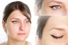 Cómo hacer eyeliner en párpados con pliegue