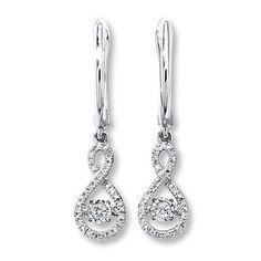 Dazzle Mom with a pair of dangling infinity symbol Diamonds In Rhythm earrings this Mother's Day.