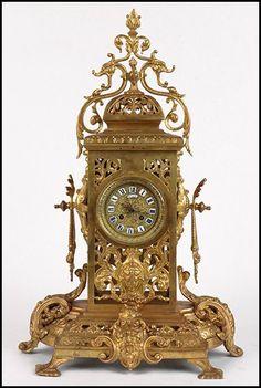 19th Century French Gilt Bronze Mantle Clock : Lot 133-2023