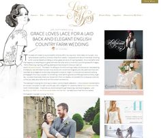 Love My Dress web design. Very glamorous, love the illustration by Helen Simms.