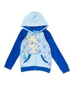 Another great find on #zulily! Frozen Blue Elsa Hoodie - Girls #zulilyfinds