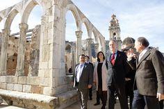 En la inauguración de las obras del Real Monasterio de Santa María de la Valldigna