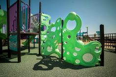 The Bubble Wall Climber by Superior Recreational Products provides a challenging way to gain access to any playground deck!
