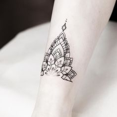Mandala Anklet tattoo | rachainsworth