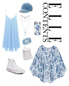 """""""Baby blue"""" by elearte ❤ liked on Polyvore featuring Converse, Casetify, Mudd, Melissa McCarthy Seven7, Aéropostale and plus size clothing"""