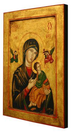 OBRAZ NAJŚWIĘTSZEJ MARYI PANNY NIEUSTAJĄCEJ POMOCY Tempera, Mona Lisa, Artwork, Painting, Art, Work Of Art, Auguste Rodin Artwork, Painting Art, Artworks