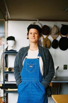 Head hat maker and creator of The Brim Label, we catch Emma Cheape traversing through Central America with her five travelling hats. Full disclosure, she probably left her hej-hej yarn at home. See You, Overalls, Fancy, Fashion, Moda, Fashion Styles, Jumpsuits, Fashion Illustrations, Work Wardrobe