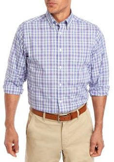 With its soft-to-the-touch stretch fabric, this plaid dress shirt from IZOD is wrinkle-resistant so you can wear it straight from the dryer. Slim Fit Dress Shirts, Slim Fit Dresses, Fitted Dress Shirts, Shirt Dress, Pink Plaid Shirt, Plaid Shirt Outfits, Flannel Shirts, Country Girl Dresses, Country Outfits