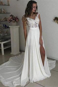 Wedding Dress Lace, Ivory Wedding Dress, Custom Wedding Dress, Cheap Wedding Dress, Wedding Dress Simple #CheapWeddingDress #IvoryWeddingDress #WeddingDressSimple #CustomWeddingDress #WeddingDressLace Wedding Dresses 2018