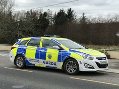 Irish Police Car - An Garda Siochana - Hyundai Wagon - Roads Policing Unit - Templeglantine, County Limerick, Ireland. Rescue Vehicles, Police Vehicles, Police Uniforms, Emergency Vehicles, Funny Vines, Thin Blue Lines, Police Cars, Special Forces, Law Enforcement