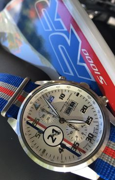 Maurice de Mauriac Chronograph Modern on the BMW S1000 RR. Luxury handmade watches for men and women.