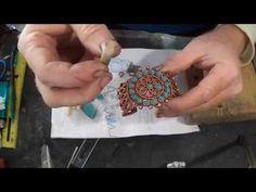 Petit Point Bracelet Cutting Turquoise Teardrops - YouTube