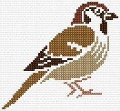 Cross Stitch Bird, Simple Cross Stitch, Cross Stitch Animals, Counted Cross Stitch Kits, Cross Stitch Flowers, Cross Stitch Designs, Cross Stitching, Cross Stitch Embroidery, Cross Stitch Patterns
