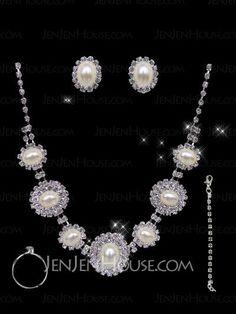 Jewelry - $18.99 - Gorgeous Alloy With Rhinestones Wedding Bridal Jewelry Set(011004470) http://jenjenhouse.com/pinterest-g4470