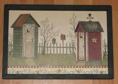 """PRIMITIVE COUNTRY OUTHOUSE BARN STAR WEATHER VANE BIRDHOUSE  9""""X 13"""" WALL DECOR #HANDCRAFTED"""
