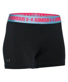 Another great find on #zulily! Black & Sky Blue HeatGear Armour Shorty Shorts #zulilyfinds