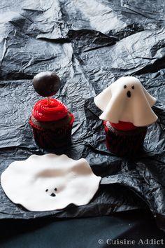 Cupcake Fantôme façon Forêt-Noire - Cuisine Addict