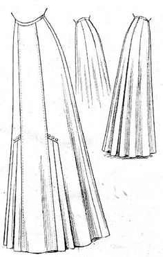 -Original- Pre 1929 Historical Pattern Collection — Seven-gored skirt, McCall- 1909 This is a rough...
