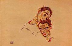 Auto Retrato doble - (Egon Schiele)