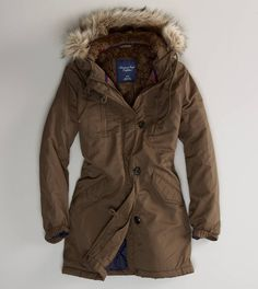 Super cute military parka   Like it in white!