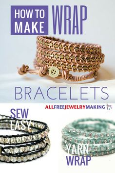 Everyone loves the look of leather wrap bracelets. They have an earthy bohemian vibe that is so chic and trendy.